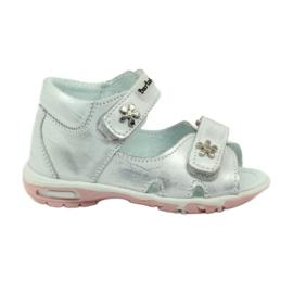 Grijs Klittenband sandalen Bartuś 120 zilver