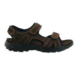 American Club Amerikaanse leren heren sandalen bruin