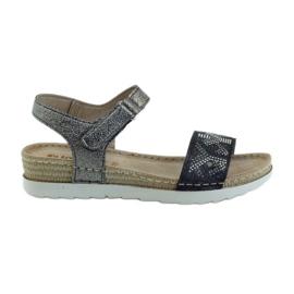 Sandalen comfortabel INBLU zilvergrafiet grijs