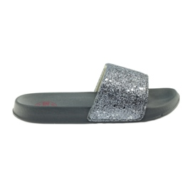 Grijs Geprofileerde slippers Big Star glitter