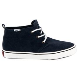 Andy Z blauw Suède sneakers boven de enkel