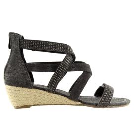 Espadrilles zwarte schoenen ME11783 Zwart