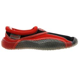 Aqua-Speed Jr. neopreen strandschoenen rood-grijs