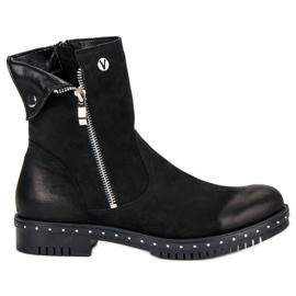 Zwarte laarzen met lederen VINCEZA