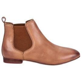 Lederen Jodhpur-laarzen voor dames bruin