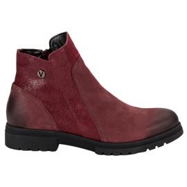 Comfortabele leren laarzen VINCEZA rood
