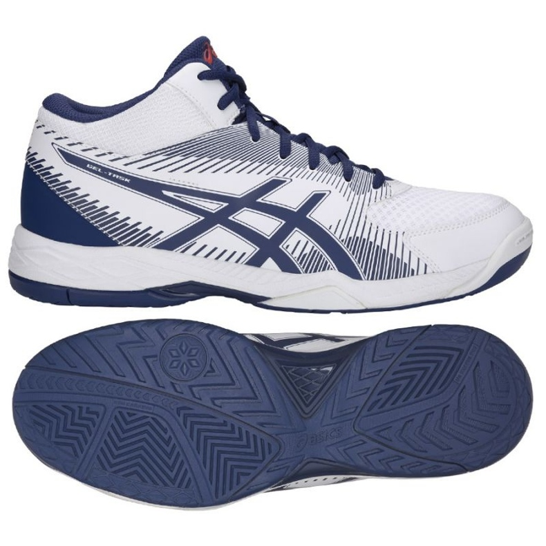 Asics Gel Tas M B703Y-100 volleybalschoenen wit wit
