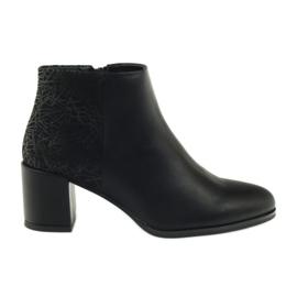 Zwarte hoge hakken schoenen Sergio Leone 542