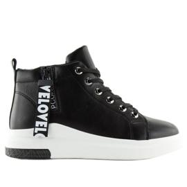 Enkelhoge sneakers zwart A29 Zwart