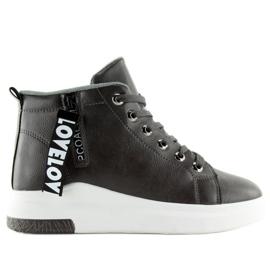 Grijs Grijze enkel sneakers grijze A29