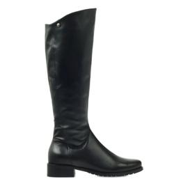 Lange zwarte laarzen Edeo 2206