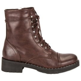 Anesia Paris bruin Brown Tied Booties