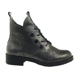 Grijs Laarzen met studs Sergio Leone 308