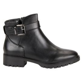 Vices Laarzen laag met gesp zwart