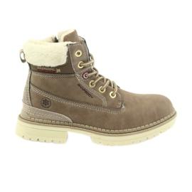 American Club bruin Amerikaanse laarzen bootees winterlaarzen 708122