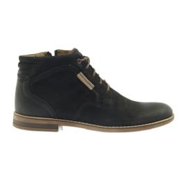 Zwart Riko laarzen jockies herenschoenen op de rits