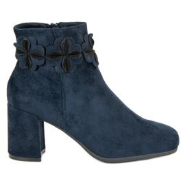 Kylie Suède marineblauwe laarzen