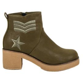 Kylie Militaire dameslaarzen groen
