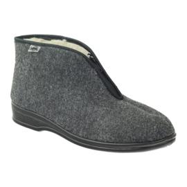 Grijs Befado herenschoenen warme slippers 100M047