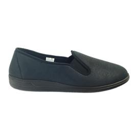 Zwart Befado schoenen heren sneakers slippers 013M312