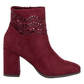 Kylie Elegante Bourgondische laarzen