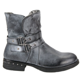 Forever Folie Blue Workers Boots blauw