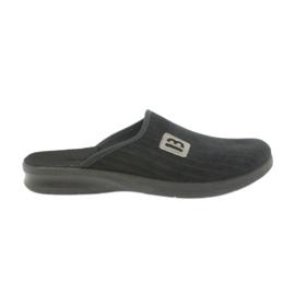 Befado herenschoenen pantoffels 548m015 zwart