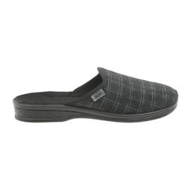Befado herenschoenen pantoffels 089M408 zwart