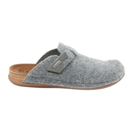Slippers vilt bevestigd Inblu TH014 grijs