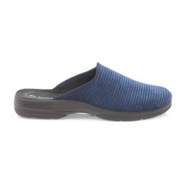 Inblu Herenslippers marine blauw