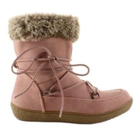 Roze Halflange laarzen voor kinderen met bont K1647201 Rose
