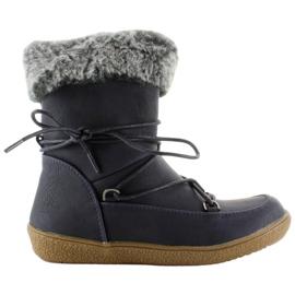 Marine Halflange laarzen voor kinderen met bont K1647201 Marino