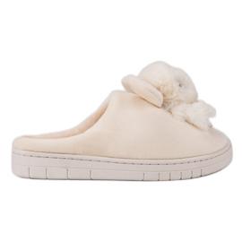 Comfortabele pantoffels bruin