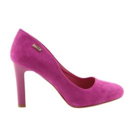 Sergio Leone roze Suede pumps 1457