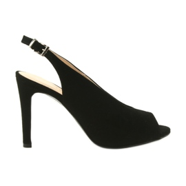Edeo Suede sandalen aan een speld zwart