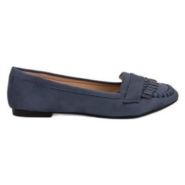 Small Swan Klassieke donkerblauwe loafers