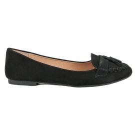 Small Swan Loafers met franjes zwart