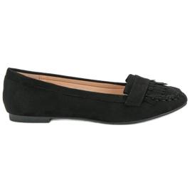Small Swan Klassieke zwarte loafers