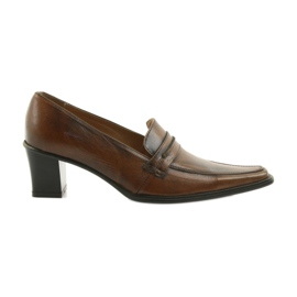 Bruin Leren schoenen Eksbut 864