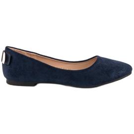 Vinceza Comfortabele ballerina blauw