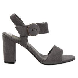 Grijs Grijze sandalen op de UP-post van VINCEZA