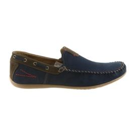 Riko mocassin schoenen heren blauw 781