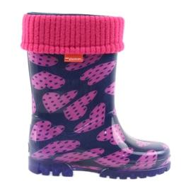 Demar rubber laarzen kinderen warme sokken harten
