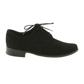 Zwart Miko schoenen kinderen suede communie schoenen