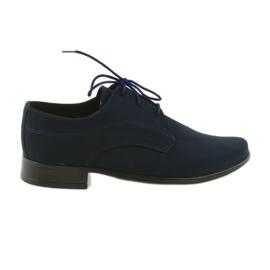 Miko schoenen kinderen suede communie schoenen marine