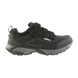 American Club ADI damesschoen met velcro Amerikaanse waterdichte softhell WT08 / 19 zwart