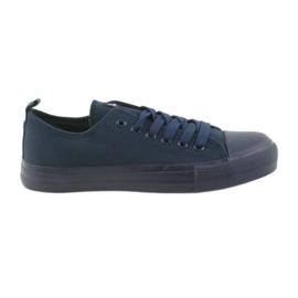 Marine Herenschoenen gebonden sneakers blauw American Club LH05