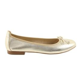 Geel Caprice ballerinas gouden schoenen voor dames 22102