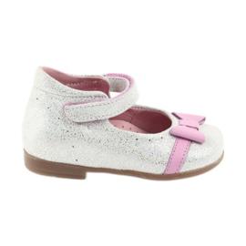 Ren But Velcro-ballerina Ren Boot 1493 DISKO wit grijs roze