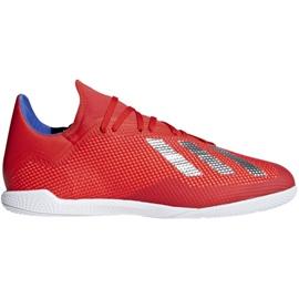 Binnenschoenen adidas X 18.3 In M BB9392 rood rood
